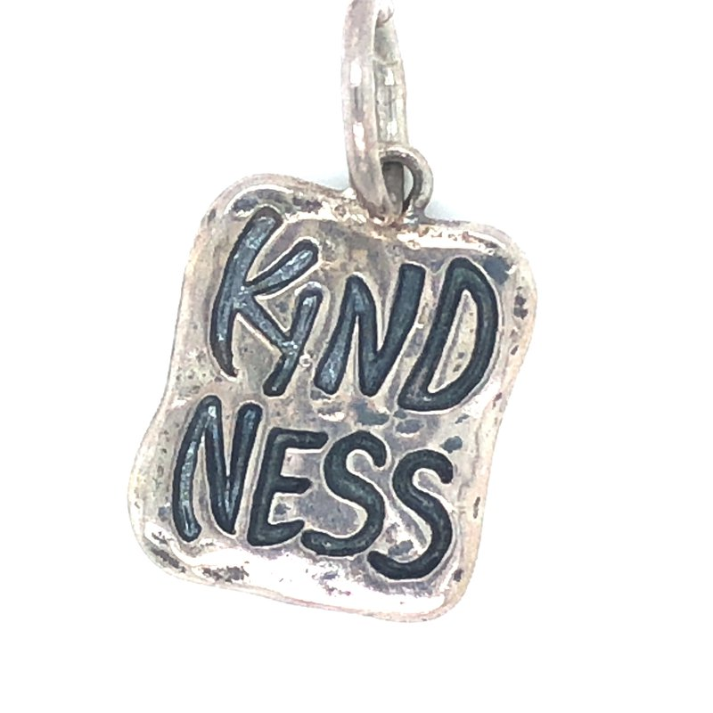 Waxing Poetic Sterling Silver Kindness Beginning of Wisdom Charm