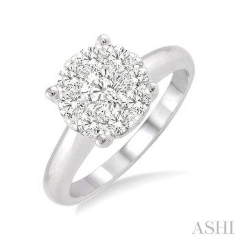 "14KW ""LoveBright"" Diamond Engagement Ring w/ 0.50 ctw, Size 6.5"