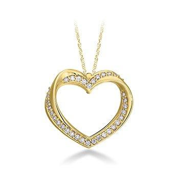 Diamond Twisted Heart Pendent