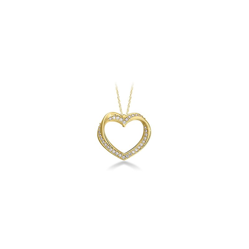 Green Brothers Collection Diamond Twisted Heart Pendent
