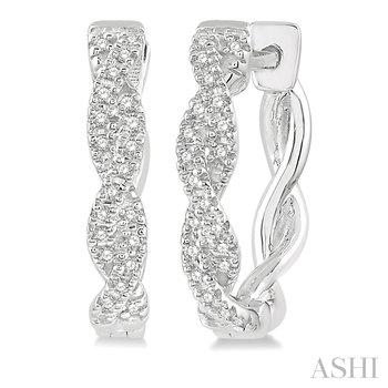 10KW Diamond Hoop Earrings w/ 0.20 ctw