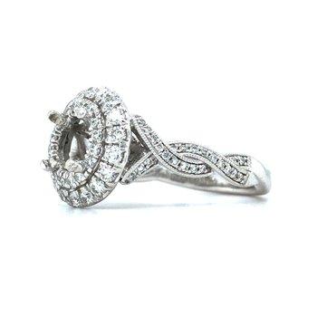 14KW Diamond Semi-Mount Engagement Ring w/ 1.08 CTW Size 6.5