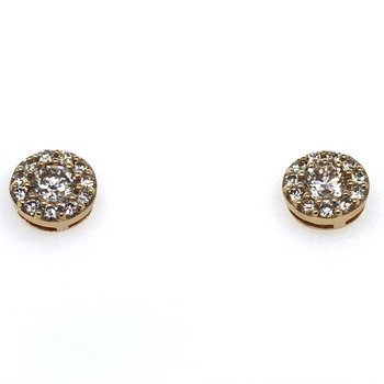 14KY Diamond Stud Earrings w/ 1.02 ctw