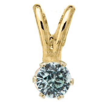 14KY Aquamarine Pendant and Chain