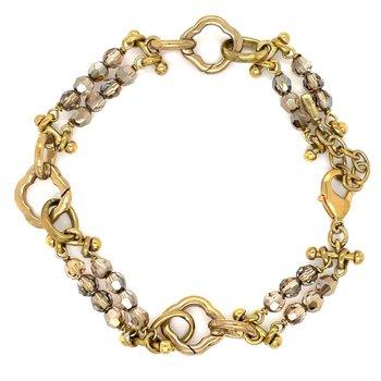 Brass Juliet Stanza Bracelet w/ Swarovski Crystals