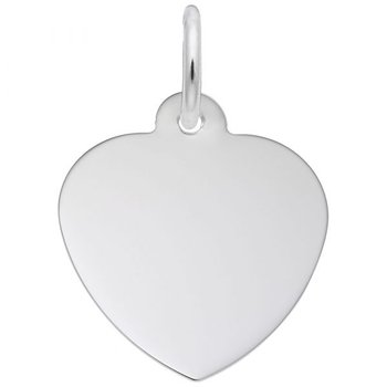 Sterling Silver Heart Classic Charm