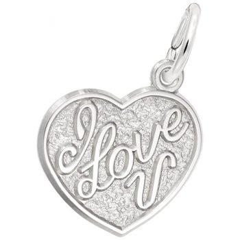 """Sterling Silver """"I Love You"""" Charm"""