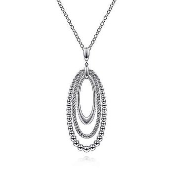 """Sterling Silver Pendant Necklace 24"""""""