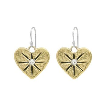 Guided By Heart Compass Drop Earrings