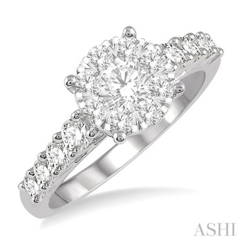 "14KW ""Lovebright"" Diamond Engagement Ring w/ 1.10 ctw, Size 7"
