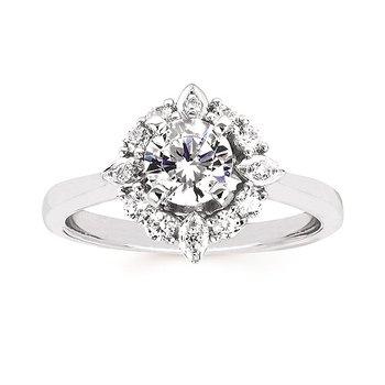 14KW Diamond Engagement Ring Semi-Mount w/ 0.29 ctw