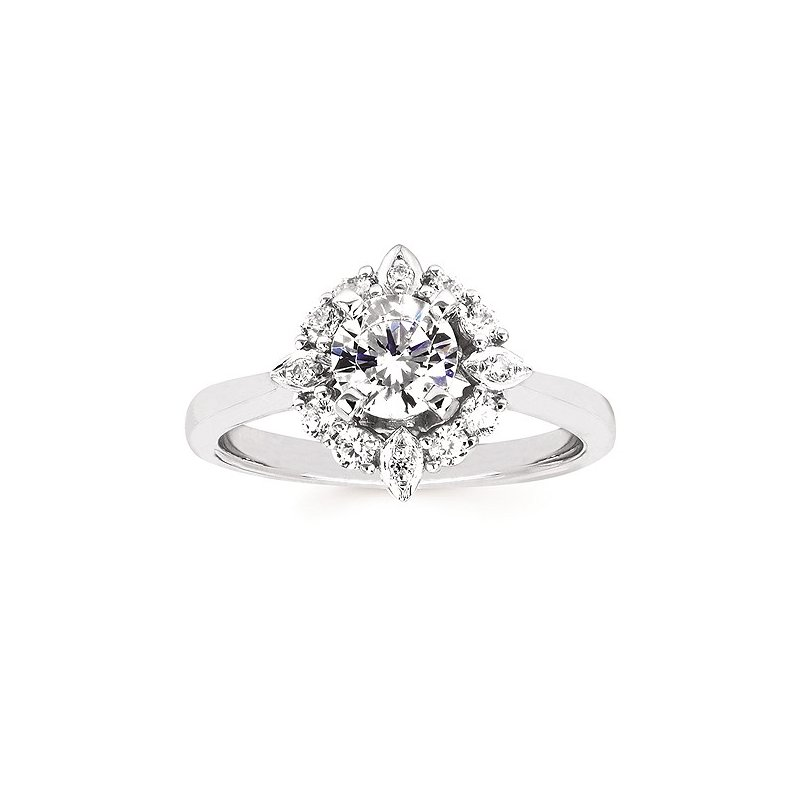 Green Brothers Collection 14KW Diamond Engagement Ring Semi-Mount w/ 0.29 ctw