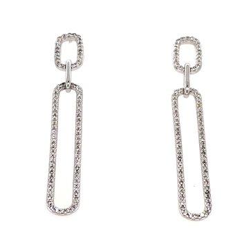 14KW Diamond Link Earrings w/ 0.50 ctw