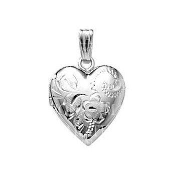 """Sterling Silver Heart Locket w/ 18"""" Chain"""