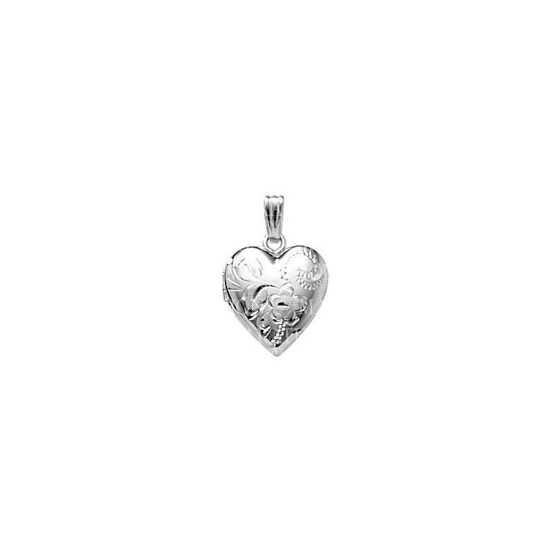 """Green Brothers Collection Sterling Silver Heart Locket w/ 18"""" Chain"""