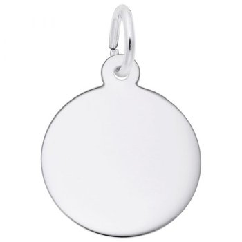 Sterling Silver Round Disc Charm