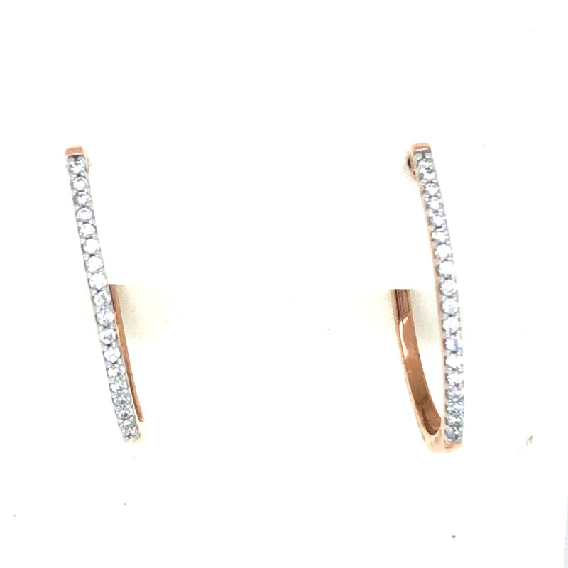 Green Brothers Collection 10KR Diamond Hoop Earrings w/ 0.20 ctw
