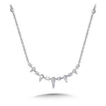 14KW Diamond Station Necklace w/ 0.33 ctw