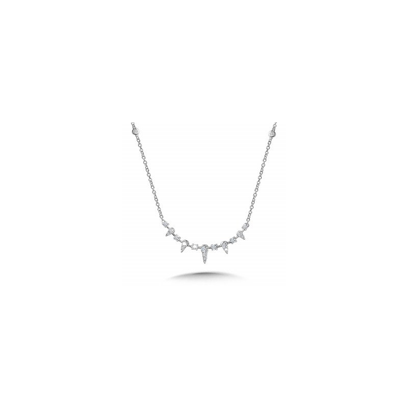 Green Brothers Collection 14KW Diamond Station Necklace w/ 0.33 ctw