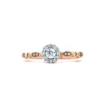 14KR Diamond Stackable Ring w/ 0.25 ctw, Size 6.5