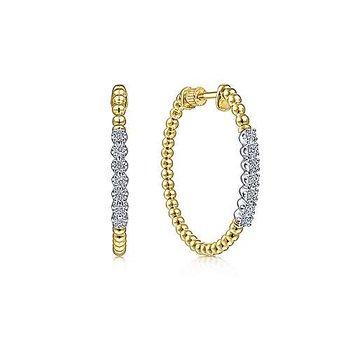 14KY Bujukan Diamond Classic Hoop Earrings