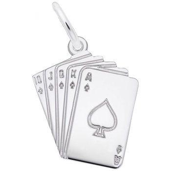 Sterling Silver Cards Charm