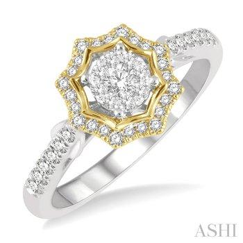 "14KYW ""LoveBright"" Diamond Floral Ring w/ 0.35 ctw"