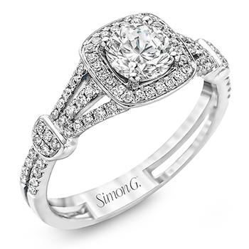 18KW Engagement Semi-Mount Engagement Ring w/ 0.27 ctw, Size 6.5