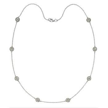 "14KW Diamond by the Yard Necklace w/ 0.50 ctw, 17"" Chain"