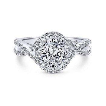 14KW Diamond Engagement Ring Semi-Mount w/ 0.68 ctw Size 6.5