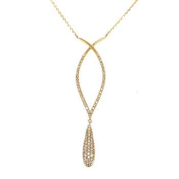 14KY Diamond Pendant w/ 0.25 ctw