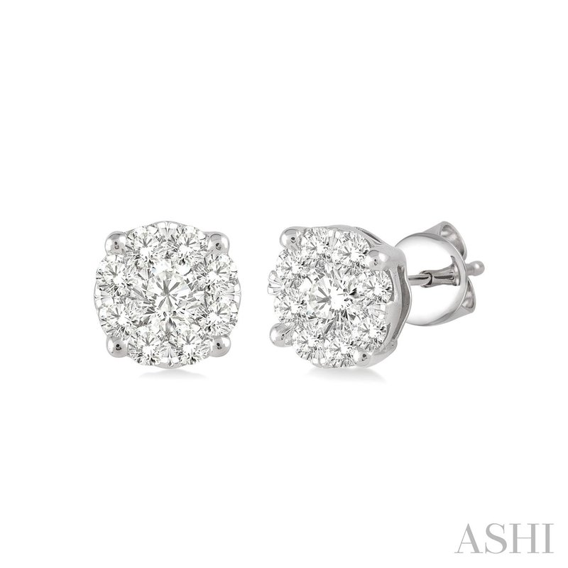"""Green Brothers Collection 14KW """"Lovebright"""" Diamond Studs w/ 0.35 ctw"""
