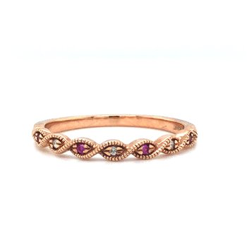 10 KR Ruby Stackable Ring