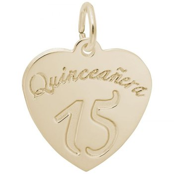 Sterling Silver & Gold Plated Quinceanera Charm