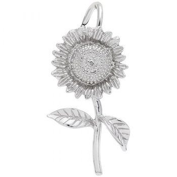 Sterling Silver Sunflower Charm