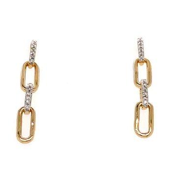 10KY Diamond Earrings w/ 0.10 ctw
