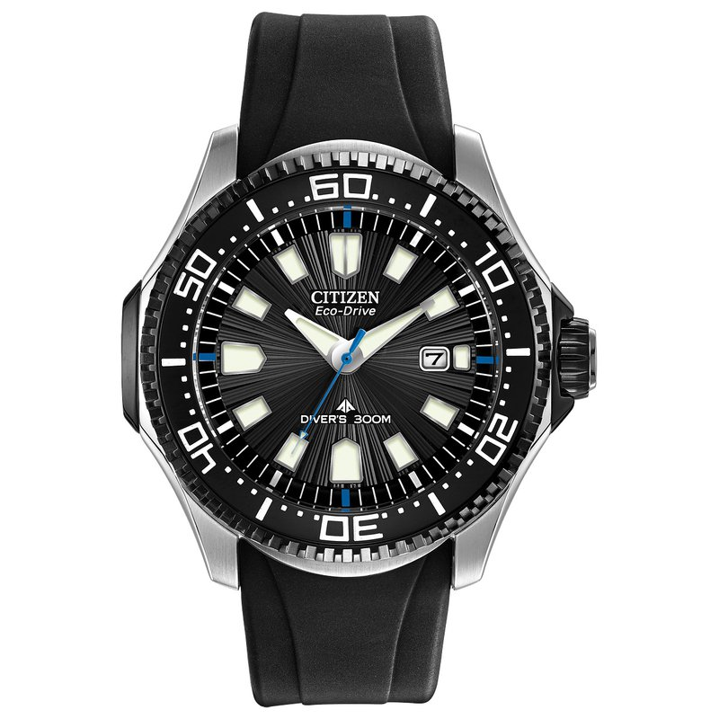 Citizen Watches in Stock Stainless Steel Eco-Drive Promaster Diver Watch w/ Black Face and Black Rubber Straps