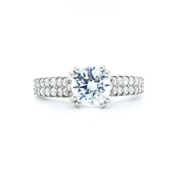 14KW Diamond Micro-Prong Engagement Ring w/ 0.36 ctw, Size 6.75