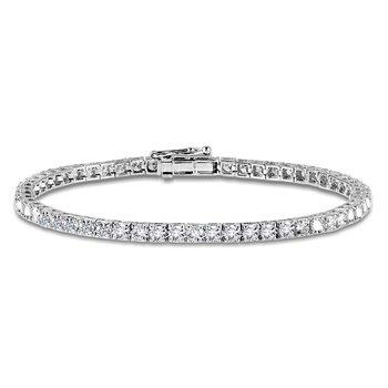 """14KW Round Diamond Tennis Bracelet w/ 5.0 ctw 7"""" Chain"""