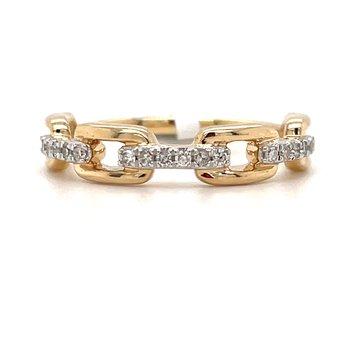 10KY Diamond Fashion Band w/ 0.13 ctw, Size 7