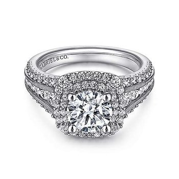 14KW Diamond Semi-Mount Engagement Ring w/ 1.05 CTW Size 6.5