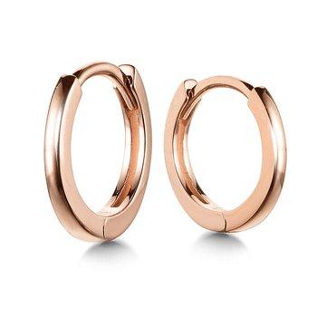 14KR Small Huggie Earrings