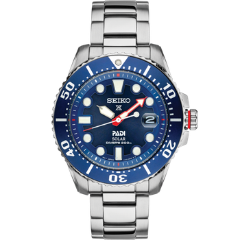 Stainless Steel Solar Diver's Sport Watch