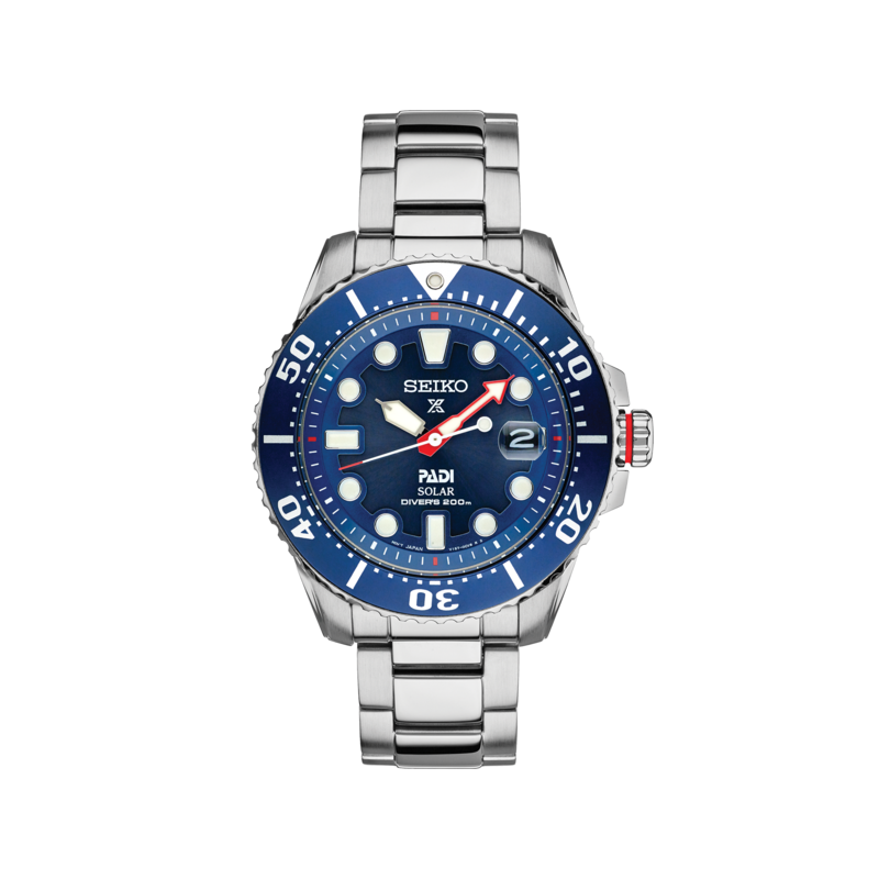 Seiko Watches In Stock Stainless Steel Solar Diver's Sport Watch