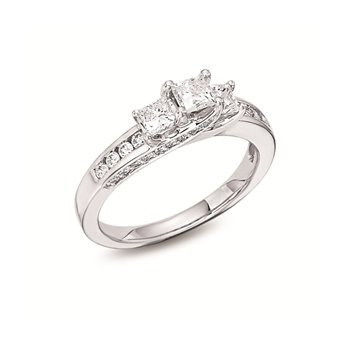 14KW Diamond Engagement Ring w/ 0.50 ctw, Size 7