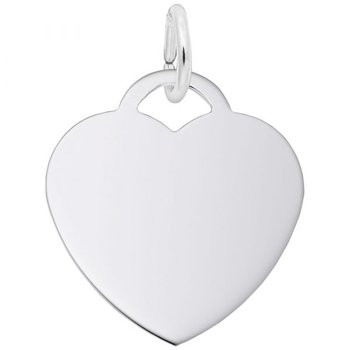 Sterling Silver Medium Heart Charm