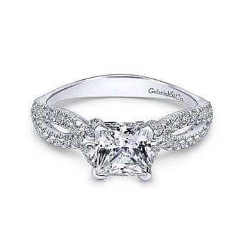 14KW Diamond Engagement Ring Semi-Mount w/ 0.33 ctw Size 6.5