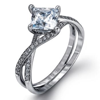 18KW Diamond Engagement Semi-Mount Ring w/ 0.15 ctw