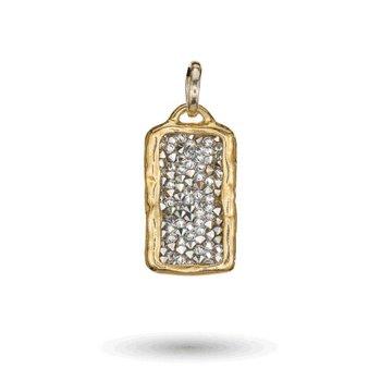 Sterling Silver & Brass Kristal Pendant w/ Swarovski Crystals