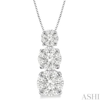 "14KW ""Lovebright"" Diamond Pendant w/ 0.50 ctw 18"" Box Chain"